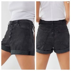 BDG High Rise Mom Shorts in Black